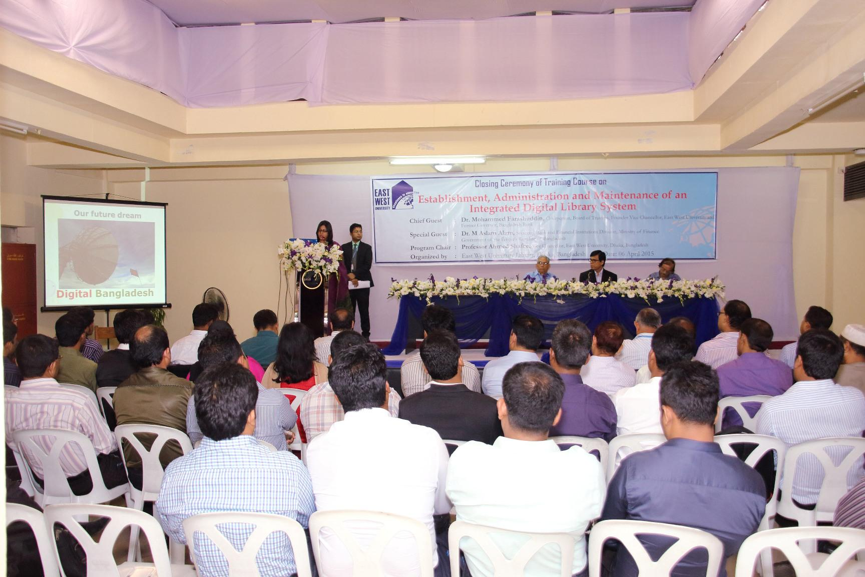 Closing Ceremony of Training Course on Integrated Digital